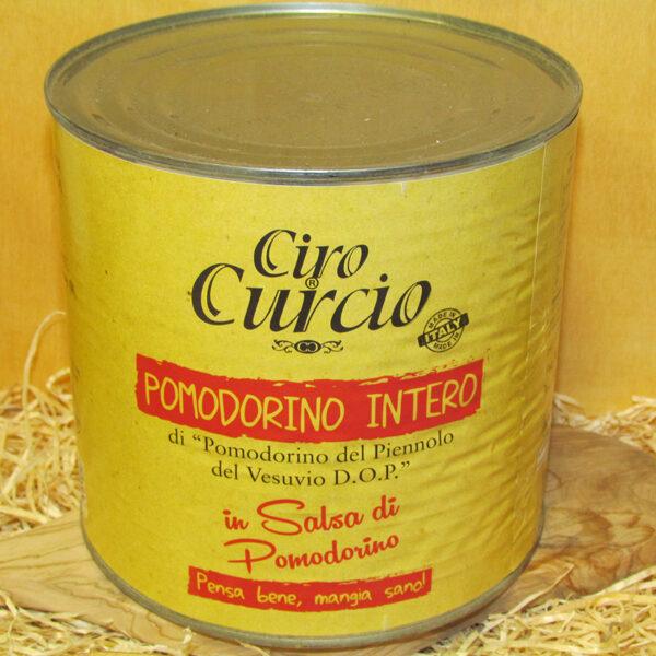 Pomodorino del piennolo del Vesuvio DOP intero in succo di pomodorino del piennolo del Vesuvio DOP – COD. DLPG