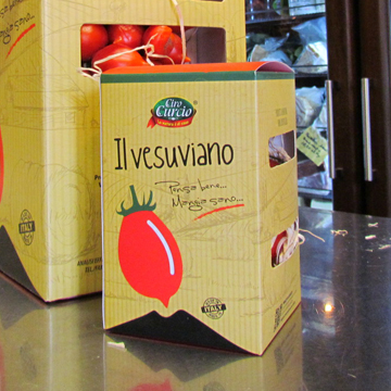 Pomodorino del piennolo del Vesuvio DOP a grappolo (piccolo) – COD.SPP